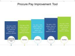 Procure Pay Improvement Tool Ppt Powerpoint Presentation Slides Design Templates Cpb