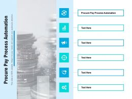 Procure Pay Process Automation Ppt Powerpoint Presentation Model Ideas Cpb