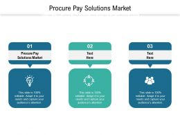 Procure Pay Solutions Market Ppt Powerpoint Presentation Infographics Icon Cpb