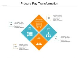 Procure Pay Transformation Ppt Powerpoint Presentation Ideas Images Cpb