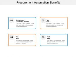 Procurement Automation Benefits Ppt Powerpoint Presentation Portfolio Cpb