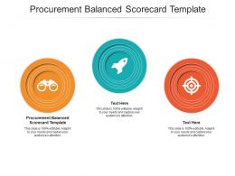 Procurement Balanced Scorecard Template Ppt Powerpoint Presentation Professional Layout Cpb