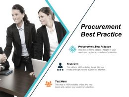 Procurement Best Practice Ppt Powerpoint Presentation Styles Good Cpb