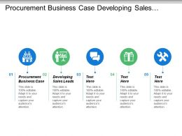 Procurement Business Case Developing Sales Leads Adaptive Leadership Cpb