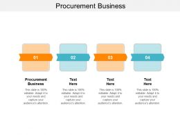 Procurement Business Ppt Powerpoint Presentation Infographic Template Backgrounds Cpb