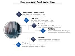 Procurement Cost Reduction Ppt Powerpoint Presentation Infographics Influencers Cpb