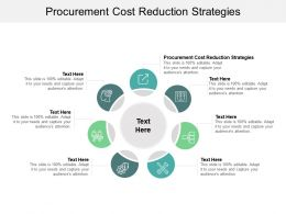 Procurement Cost Reduction Strategies Ppt Powerpoint Presentation Summary Background Cpb