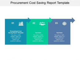 Procurement Cost Saving Report Template Ppt Presentation Model Files Cpb