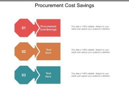 Procurement Cost Savings Ppt Powerpoint Presentation File Example Introduction Cpb