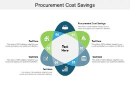 Procurement Cost Savings Ppt Powerpoint Presentation Outline Example File Cpb