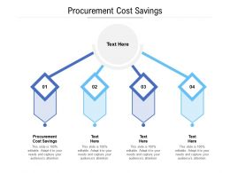 Procurement Cost Savings Ppt Powerpoint Presentation Portfolio Example Introduction Cpb