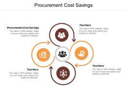 Procurement Cost Savings Ppt Powerpoint Presentation Professional Files Cpb