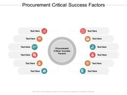 Procurement Critical Success Factors Ppt Powerpoint Presentation Deck Cpb