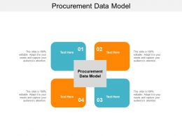 Procurement Data Model Ppt Powerpoint Presentation Pictures Skills Cpb