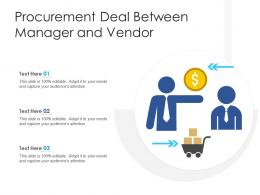 Procurement Deal Between Manager And Vendor