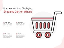 Procurement Icon Displaying Shopping Cart On Wheels