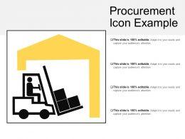 Procurement Icon Example