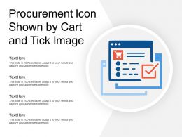 Procurement Icon Shown By Cart And Tick Image