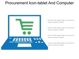 Procurement Icon Tablet And Computer