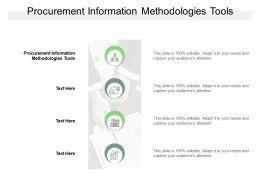 Procurement Information Methodologies Tools Ppt Powerpoint Presentation Model Aids Cpb