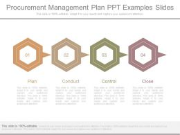 Procurement Management Plan Ppt Examples Slides