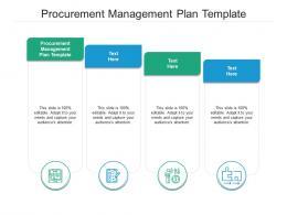 Procurement Management Plan Template Ppt Powerpoint Presentation Model Ideas Cpb