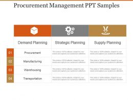 Procurement Management Ppt Samples