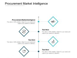 Procurement Market Intelligence Ppt Powerpoint Presentation Icon Diagrams Cpb