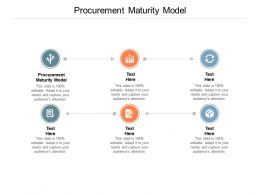 Procurement Maturity Model Ppt Powerpoint Presentation Layouts Sample Cpb