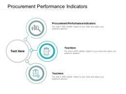 Procurement Performance Indicators Ppt Powerpoint Presentation Infographic Template Cpb