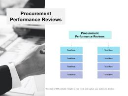Procurement Performance Reviews Ppt Powerpoint Presentation Icon Cpb