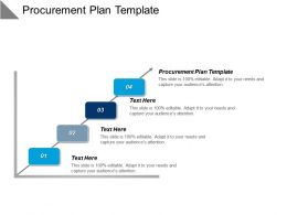 Procurement Plan Template Ppt Powerpoint Presentation Gallery Portfolio Cpb