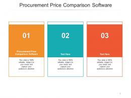 Procurement Price Comparison Software Ppt Powerpoint Presentation Professional Graphics Example Cpb
