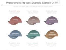 Procurement Process Example Sample Of Ppt