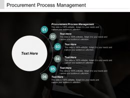 Procurement Process Management Ppt Powerpoint Presentation Icon Styles Cpb