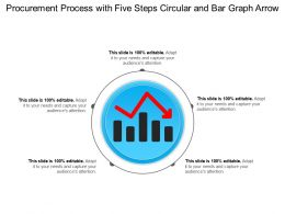 Procurement Process With Five Steps Circular And Bar Graph Arrow