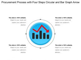 Procurement Process With Four Steps Circular And Bar Graph Arrow