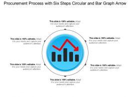 Procurement Process With Six Steps Circular And Bar Graph Arrow