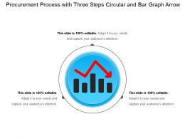 Procurement Process With Three Steps Circular And Bar Graph Arrow