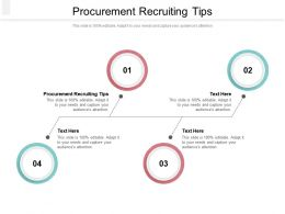 Procurement Recruiting Tips Ppt Powerpoint Presentation File Guidelines Cpb
