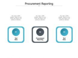 Procurement Reporting Ppt Powerpoint Presentation Ideas Brochure Cpb