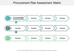 Procurement Risk Assessment Matrix Ppt Powerpoint Presentation Professional Graphics Cpb
