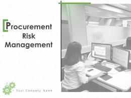 Procurement Risk Management Powerpoint Presentation Slides