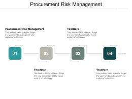 Procurement Risk Management Ppt Powerpoint Presentation Pictures Designs Cpb