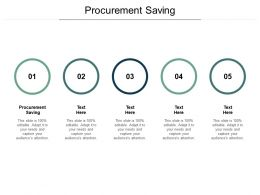 Procurement Saving Ppt Powerpoint Presentation Inspiration Maker Cpb