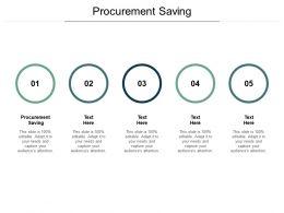 Procurement Saving Ppt Powerpoint Presentation Inspiration Maker Cpb