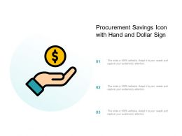 Procurement Savings Icon With Hand And Dollar Sign
