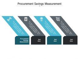 Procurement Savings Measurement Ppt Powerpoint Presentation Styles Pictures Cpb