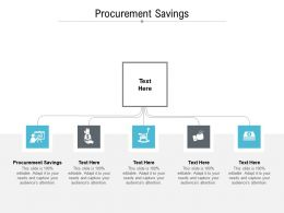 Procurement Savings Ppt Powerpoint Presentation Inspiration Picture Cpb
