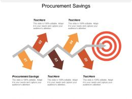 Procurement Savings Ppt Powerpoint Presentation Professional Infographics Cpb